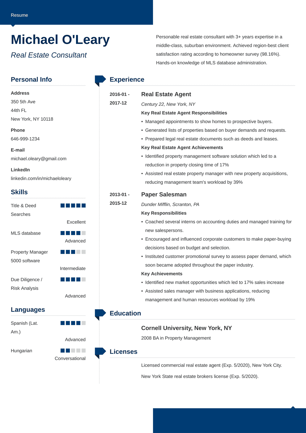 real estate resume template modern in 2020 Job resume