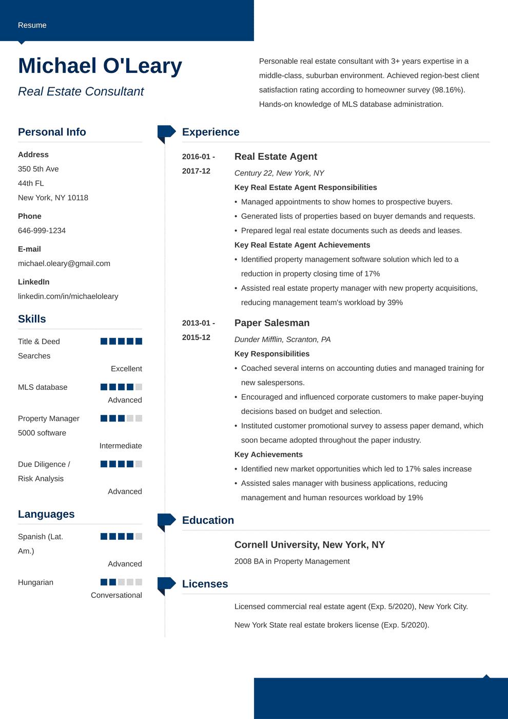 real estate resume template modern in 2020 Job resume