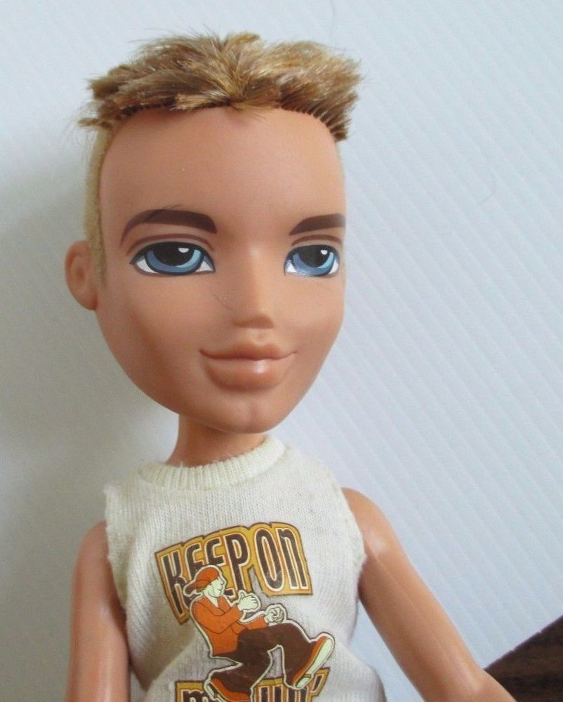 Bratz Boy Doll Blonde Hair Shorts Thongs T Shirt Bratz Boy Bratz Dolls Bratz Doll Barbie Dolls