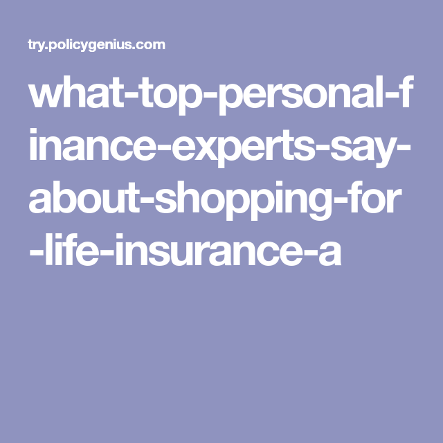 What Top Personal Finance Experts Say About Shopping For Life