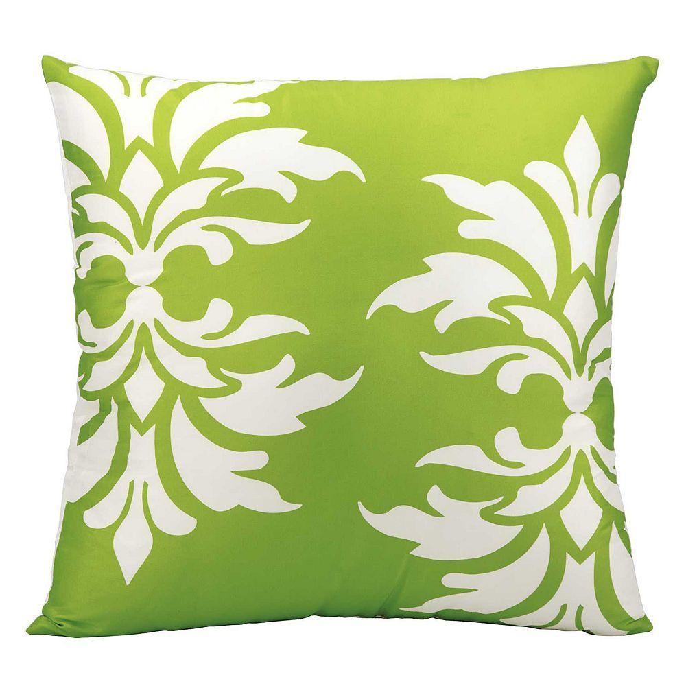 Damask Outdoor Throw Pillow