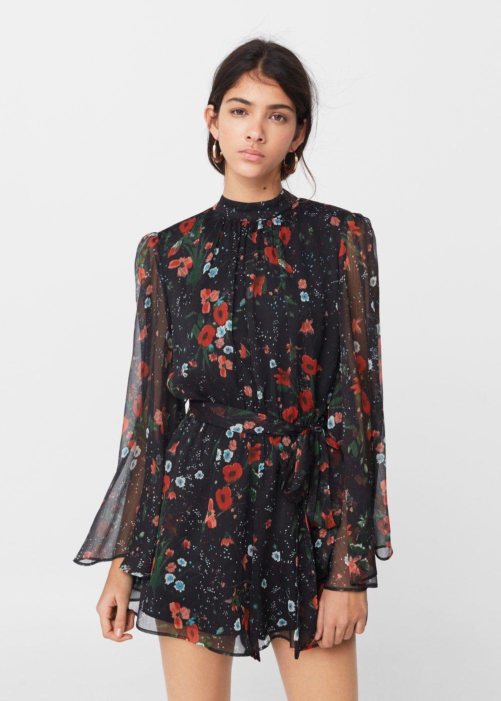 3fab3fcfbd Floral short jumpsuit - Woman