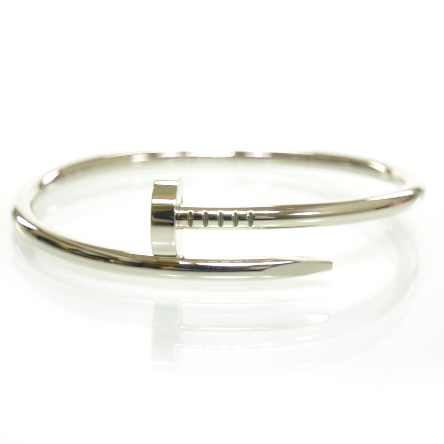 bracelet gold replica juste plated un clou cartier row white