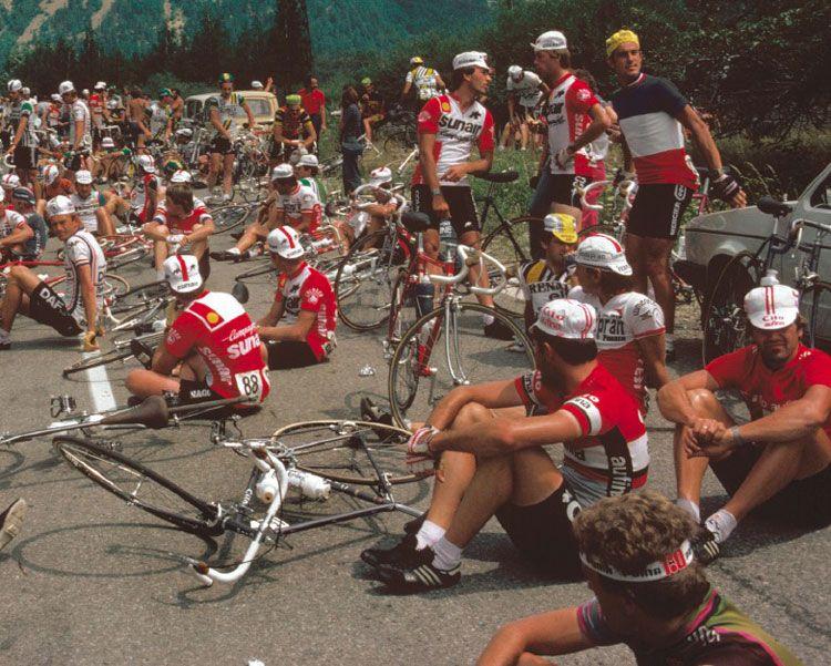 .....Riders sit-down strike!