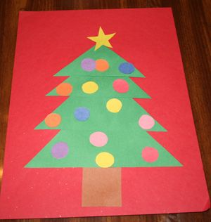 construction paper - Christmas Crafts With Construction Paper