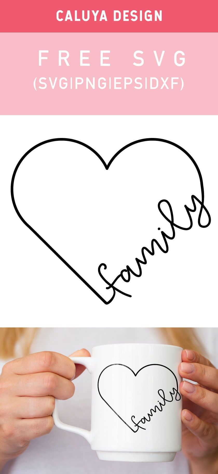 Free Heart Family Svg Png Eps Dxf By Caluya Design In 2020 Free Printable Clip Art Cricut Free Cricut Projects Vinyl