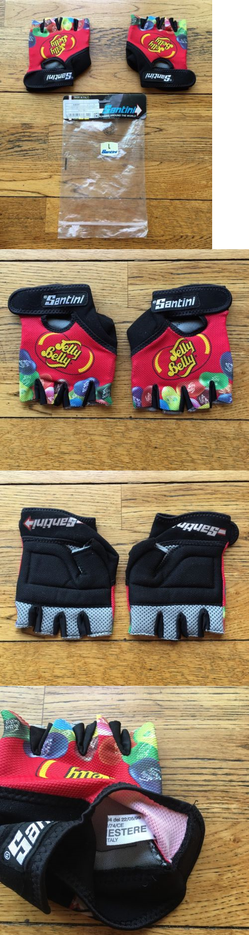 Gloves vintage santini team jelly belly cycling gloves