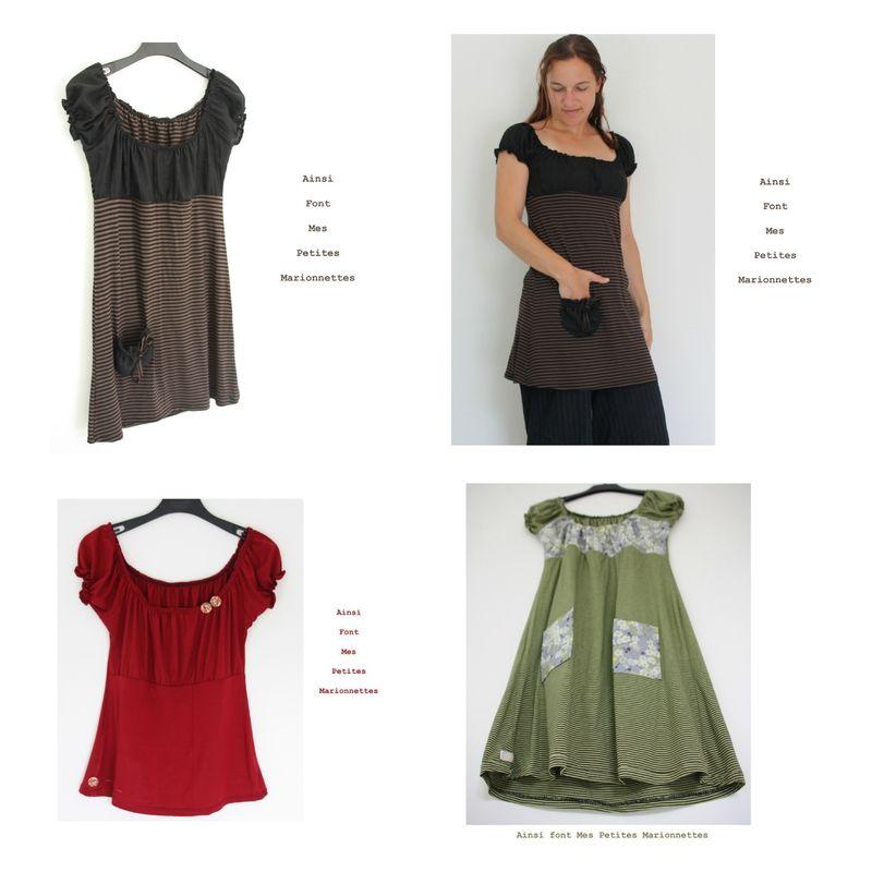 tuto robe-tunique encolure élastique et taille empire | couture ...