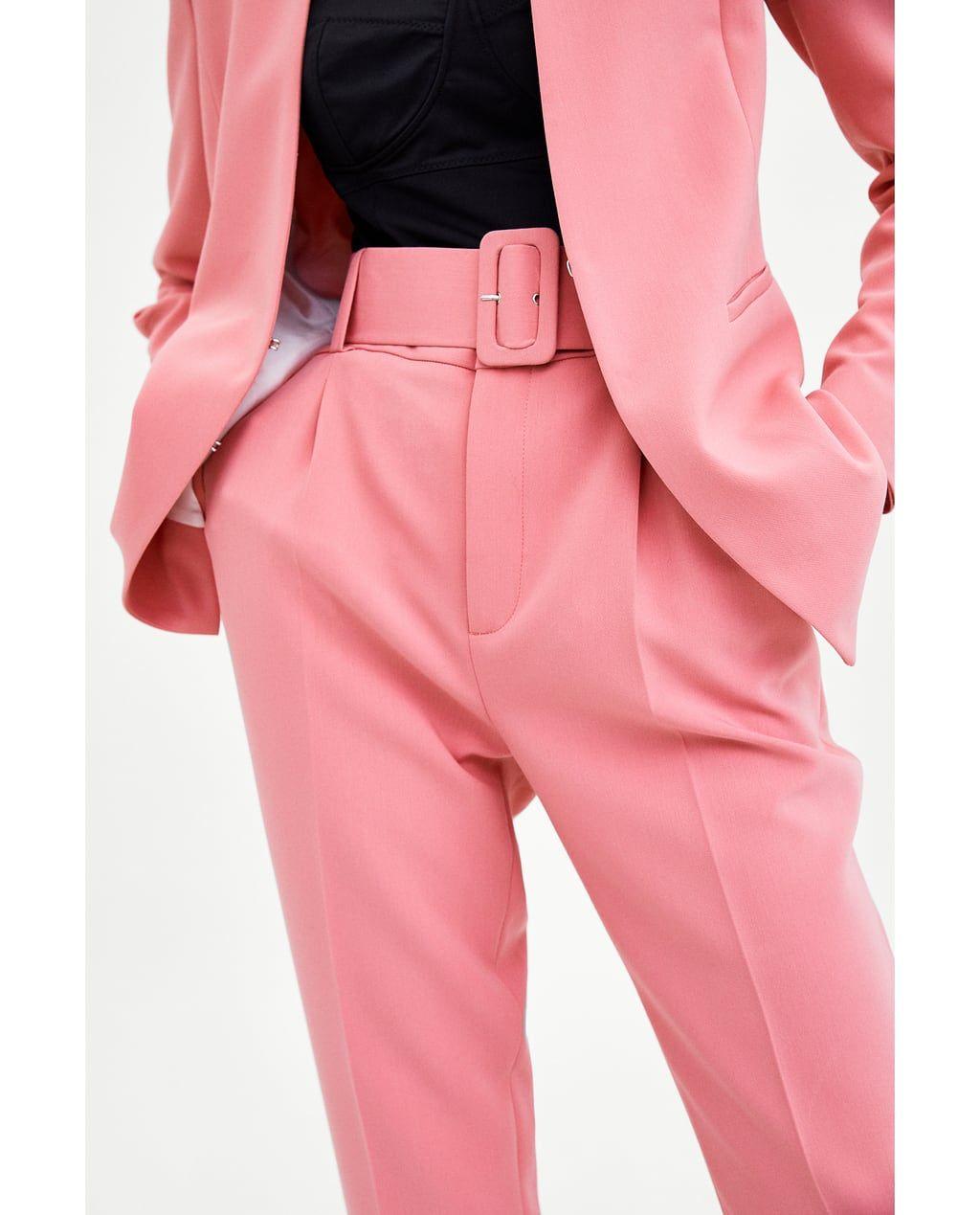 pantalones pink zara nueva coleccion