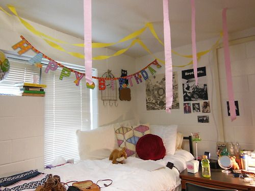 Loved My Roommates Decorations For Me On My Birthday Dorm Dorm Room Toddler Bed