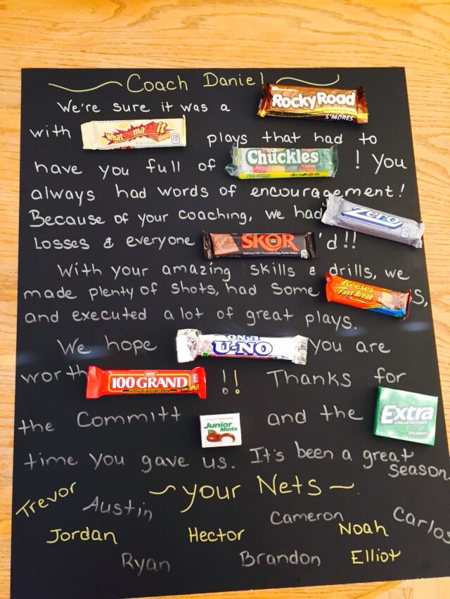 CandyGram For Coaches Perfect End Of The Season CoachS Gift For