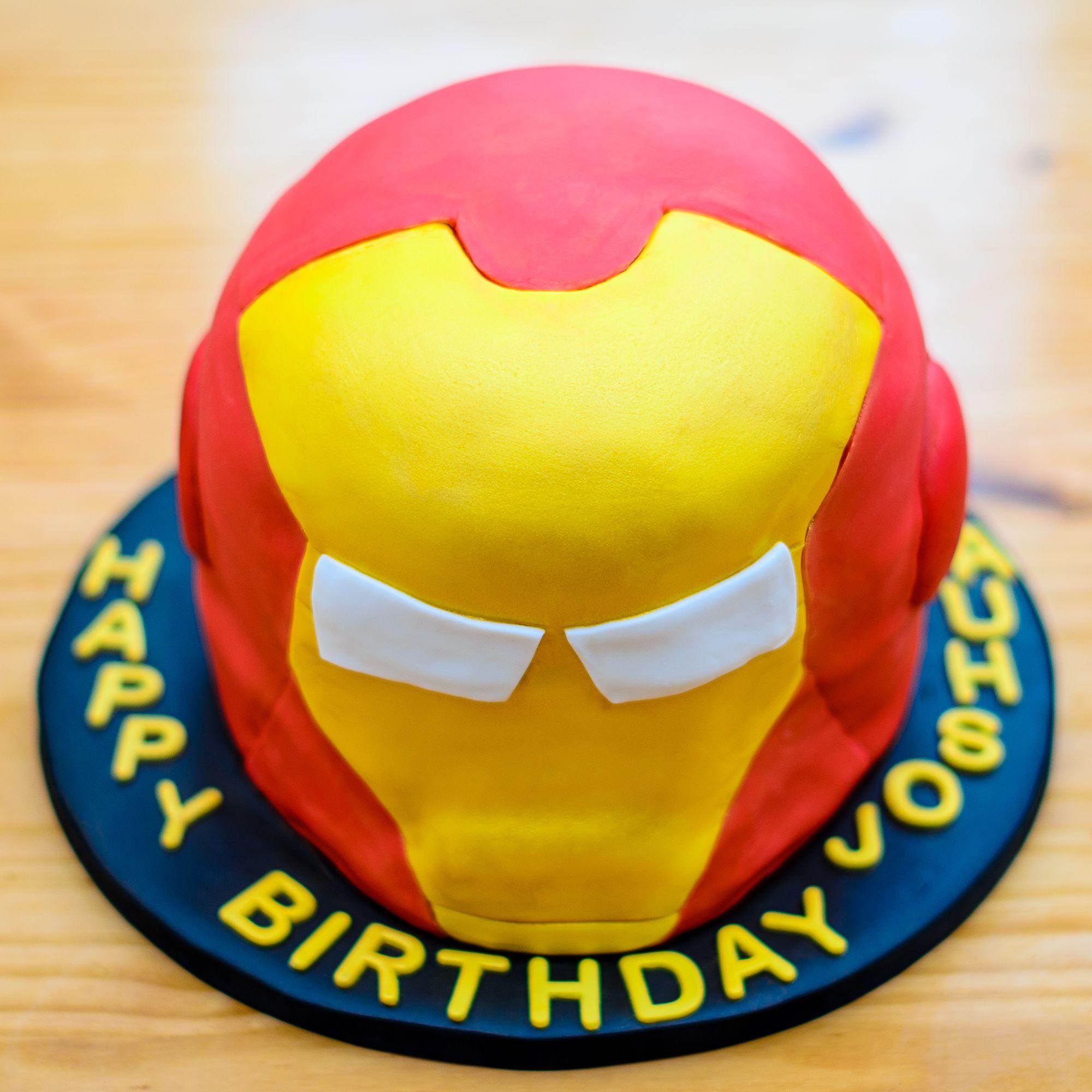 Iron man birthday cake personalised cakes superhero