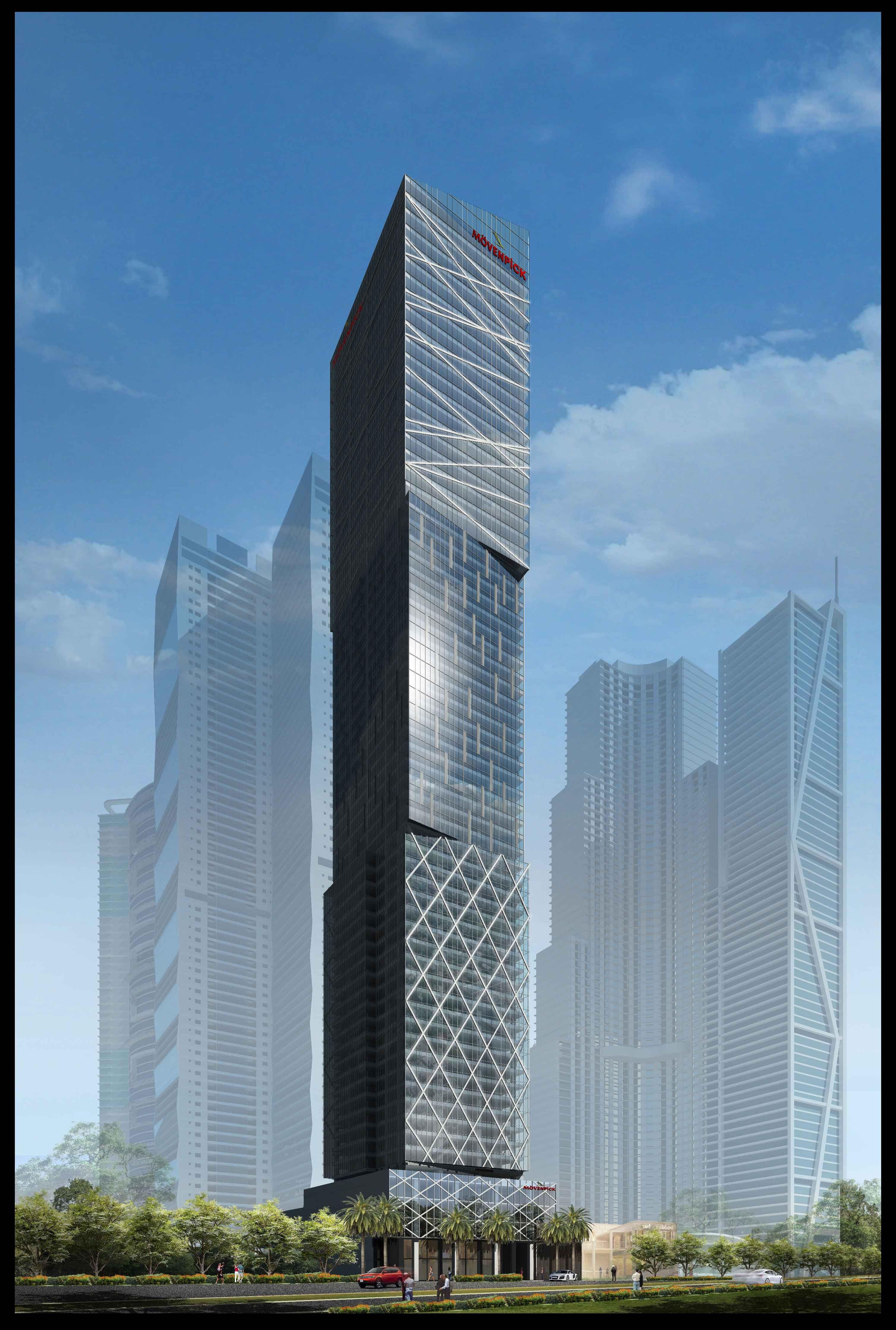 Future Building in Manila. Movenpick Hotel-Makati ...