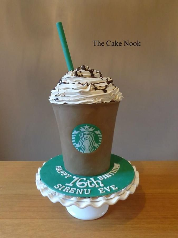 Starbucks Frappacino Cake By Zoe Robinson Cakes Cake Decorating