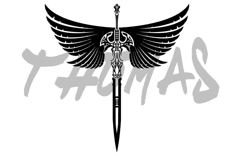 Stylish sword tattoo stencil tattoes idea 2015 2016 stencils sword with wings tribal tattoo picture biocorpaavc Gallery