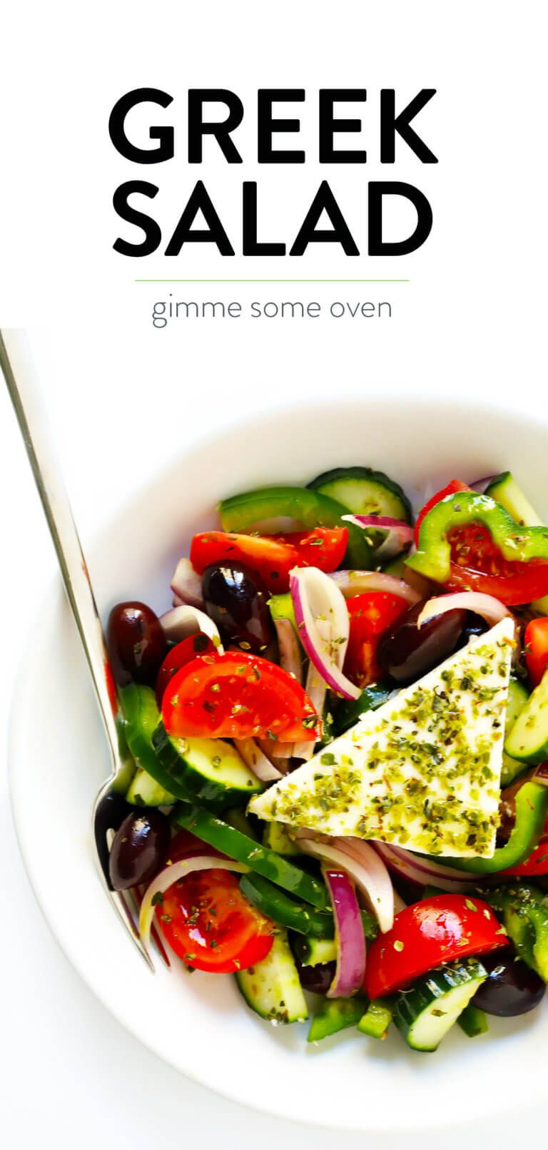 This Authentic Greek Salad Recipe Is Made Simply With Tomato Cucumber Green Pepper Red Onion O Greek Salad Recipe Authentic Greek Salad Recipes Greek Salad