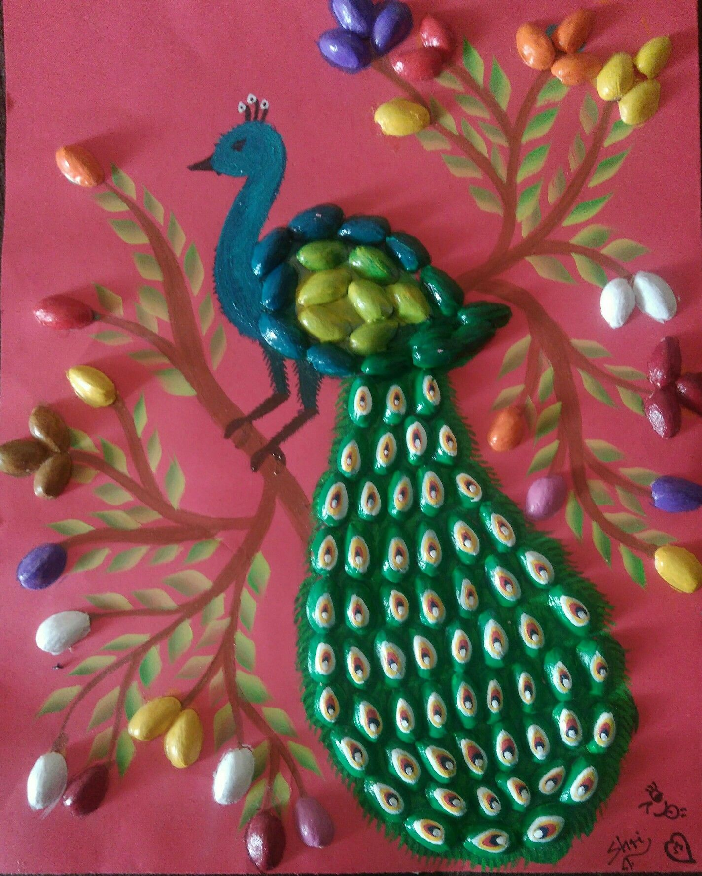 Peacock With Pistachio Shells Summer Project With My Little