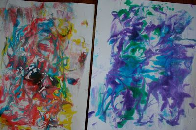 Marbling Paper With Shaving Cream And Liquid Watercolor Liquid