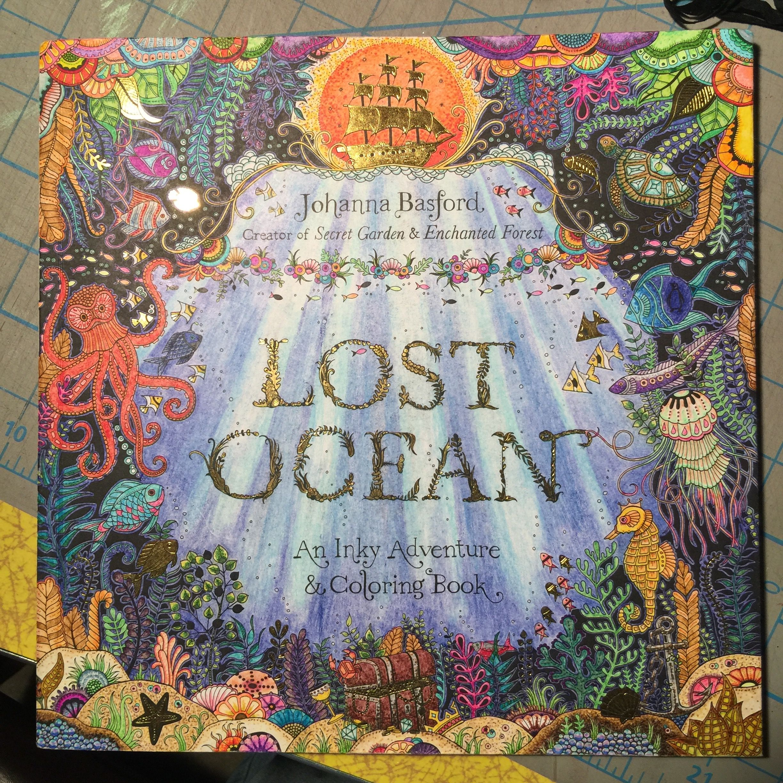 Lost Ocean Cover Johanna Basford Lost Ocean Lost Ocean Coloring Book Johanna Basford Coloring