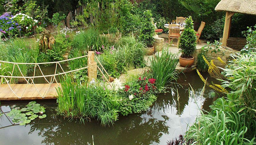 Tranquility Water Garden Exhibit Hampton Court Flower Show