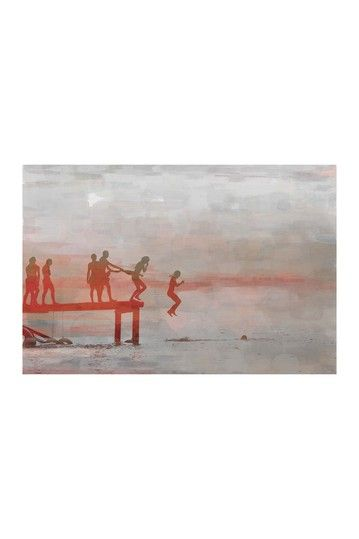 Jump In Lake Canvas by Parvez Taj on @HauteLook  www.parveztaj.com