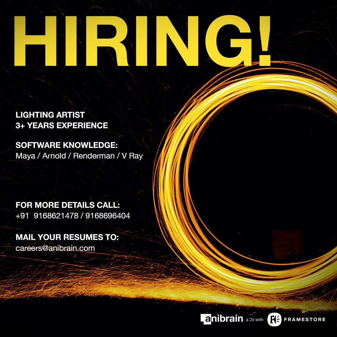 Vfx And Animation Jobs At Anibrain Vfx Pune India Learning And Development Job How To Apply