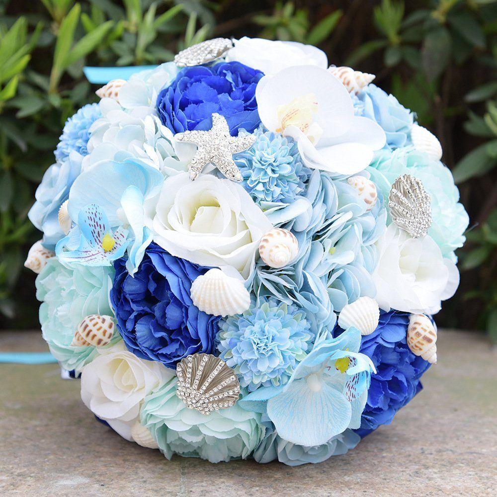 Amazon Com Abbie Home Bridal Bouquet Brooches For Beach Wedding