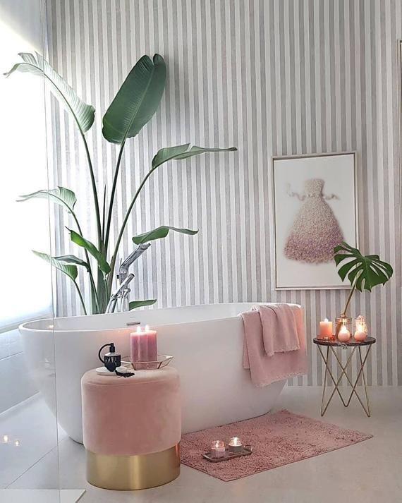 Miss Fashion Flower Dress Print, CD Blush Pink Floral Dress Poster, Flower Power Dress Wall Art, Light Pink Fashion Decor White ribbon dress