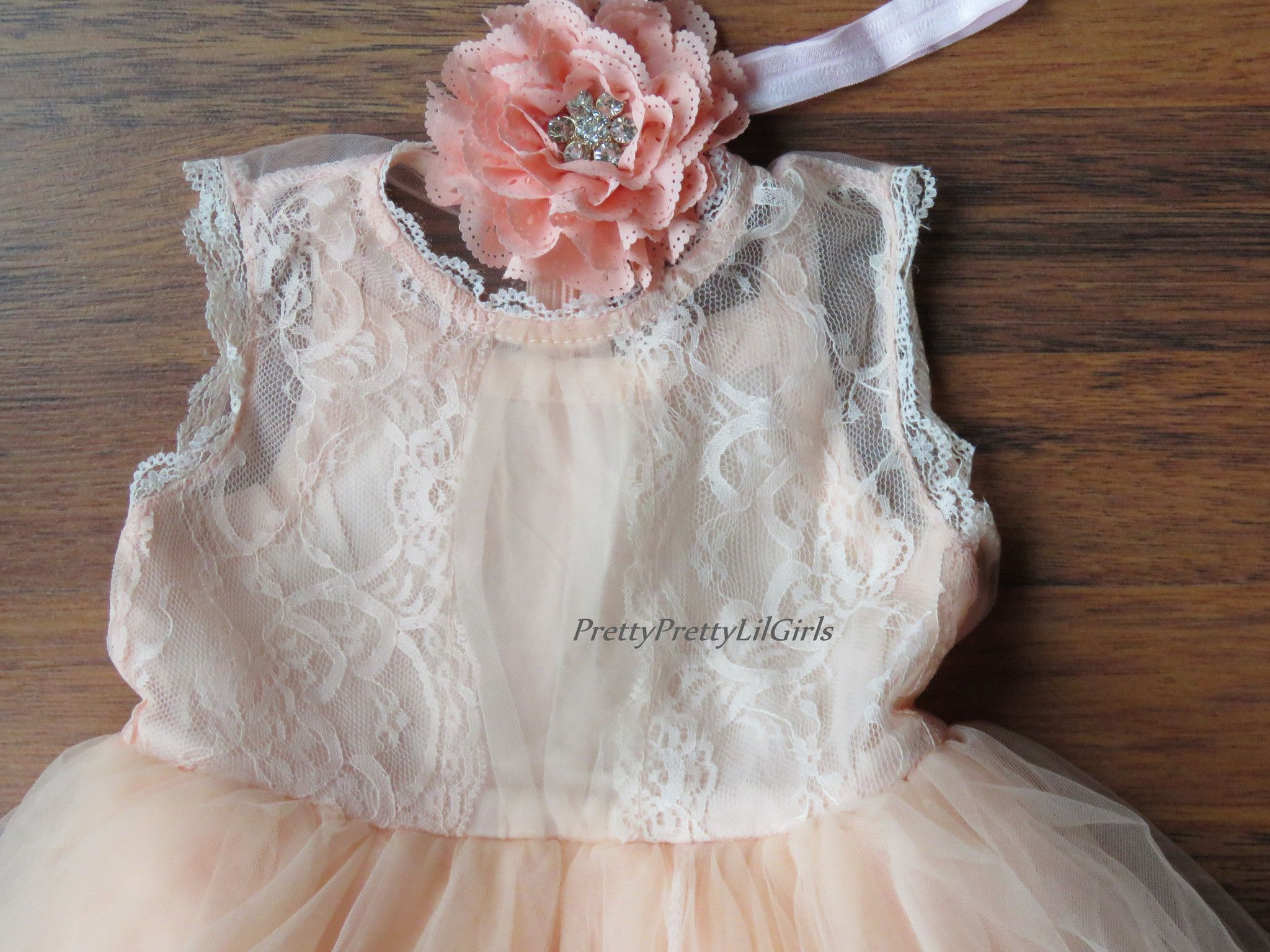 Lace dress for baby girl  Peach Little Girls Dress Peach Baby Girl Dress Toddler Lace Dress