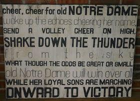 LK Art: Notre Dame Fight Song
