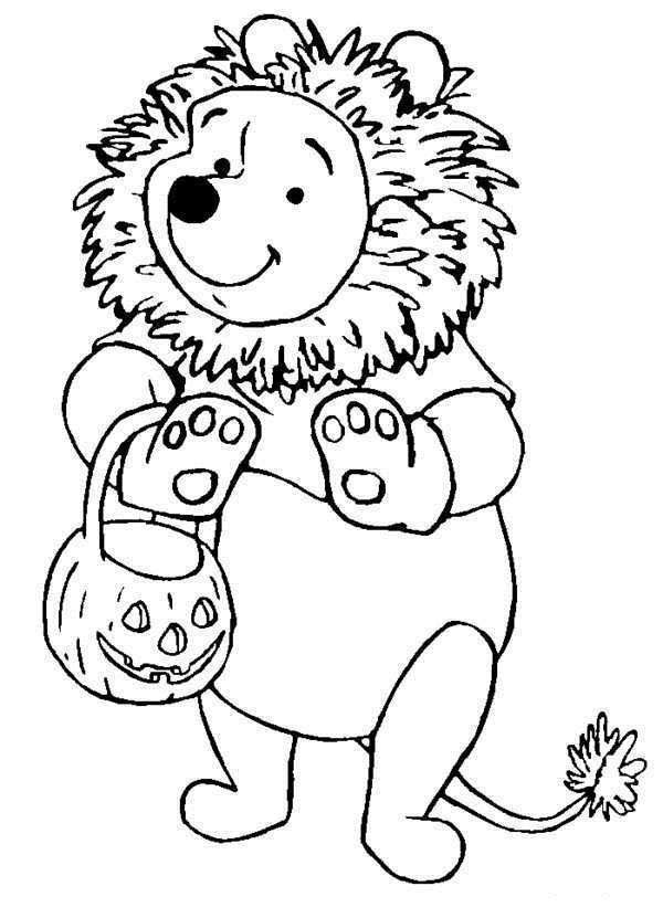 Winnie Pooh Disney Halloween Coloring Pages Halloween Coloring Pages Disney Coloring Pages