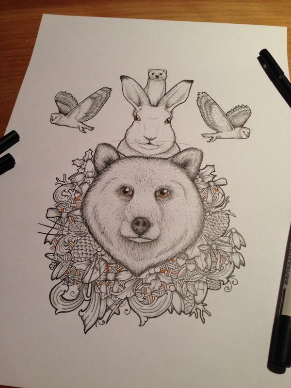 'The Bear And The Hare' Inspired Illustration by Miss Dev, via Behance