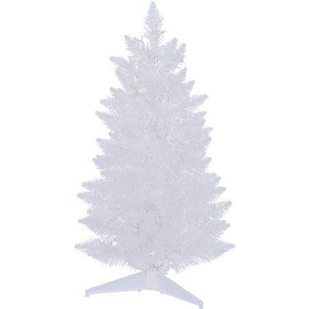 Vickerman Unlit 25\u0027 Sparkle White Spruce Pencil Pine Artificial