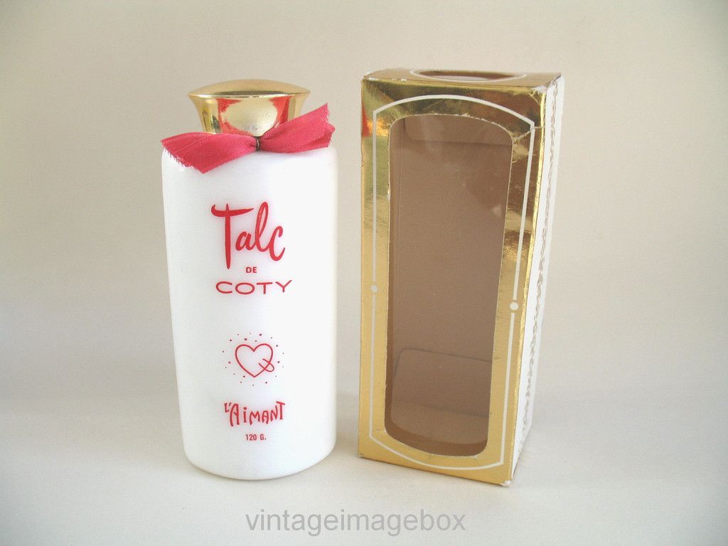 Coty L' Aimant Talc, vintage talcum powder with box ...
