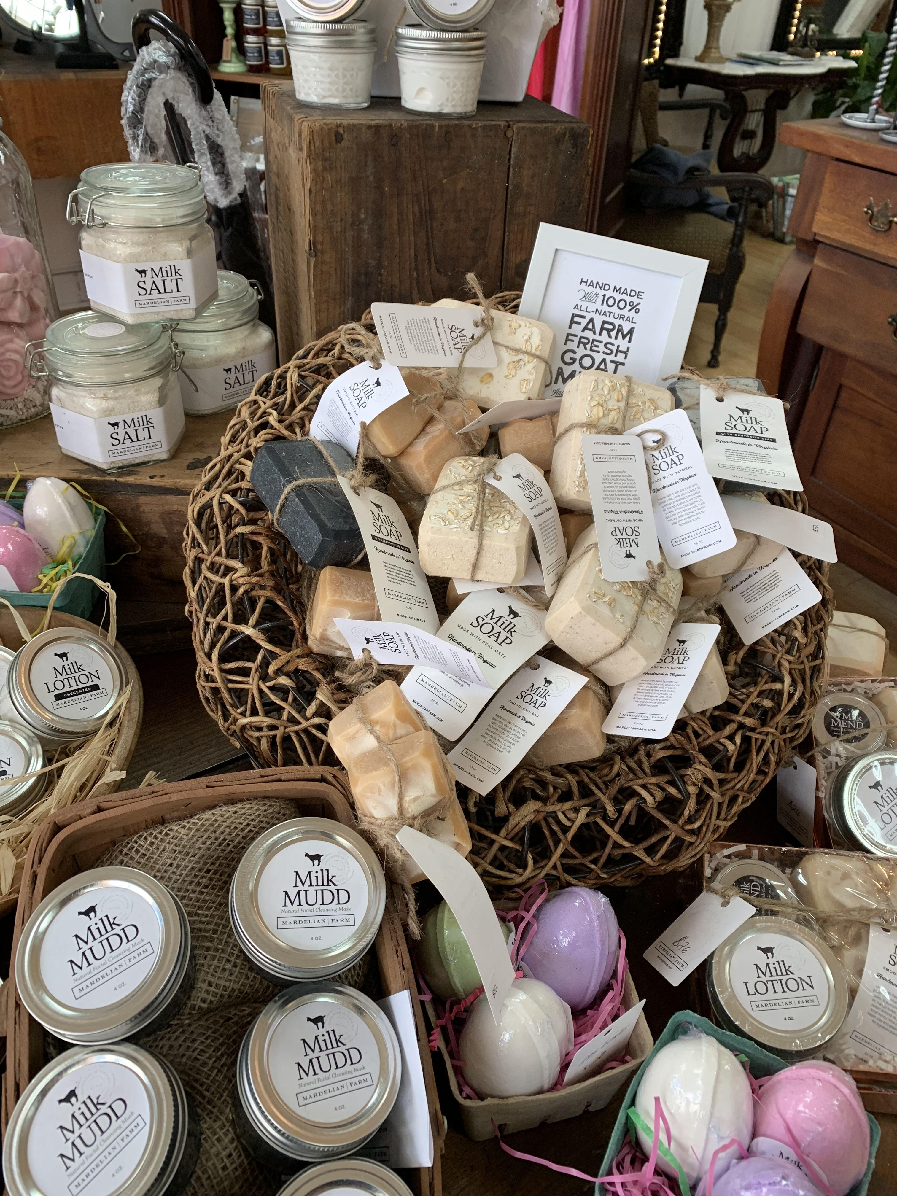 Mardelian Farm products at The Apothic Company in Old