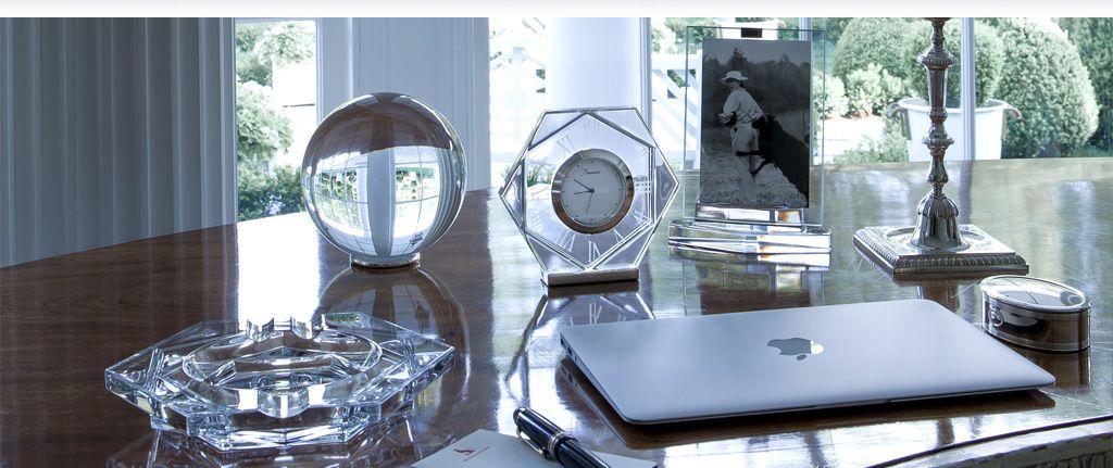 Accessoires De Bureau De Luxe Cristal De Baccarat Glassic
