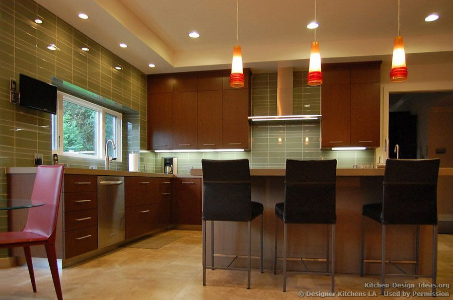 Dark Cherry Kitchen Beautiful Pendant Lights  Designer Kitchens Extraordinary Cherry Kitchen Design Review