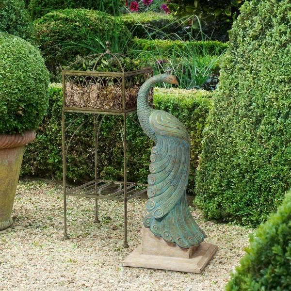 Product Image For Bombay® Royal Peacock Outdoor Statuary 2 Out Of 2