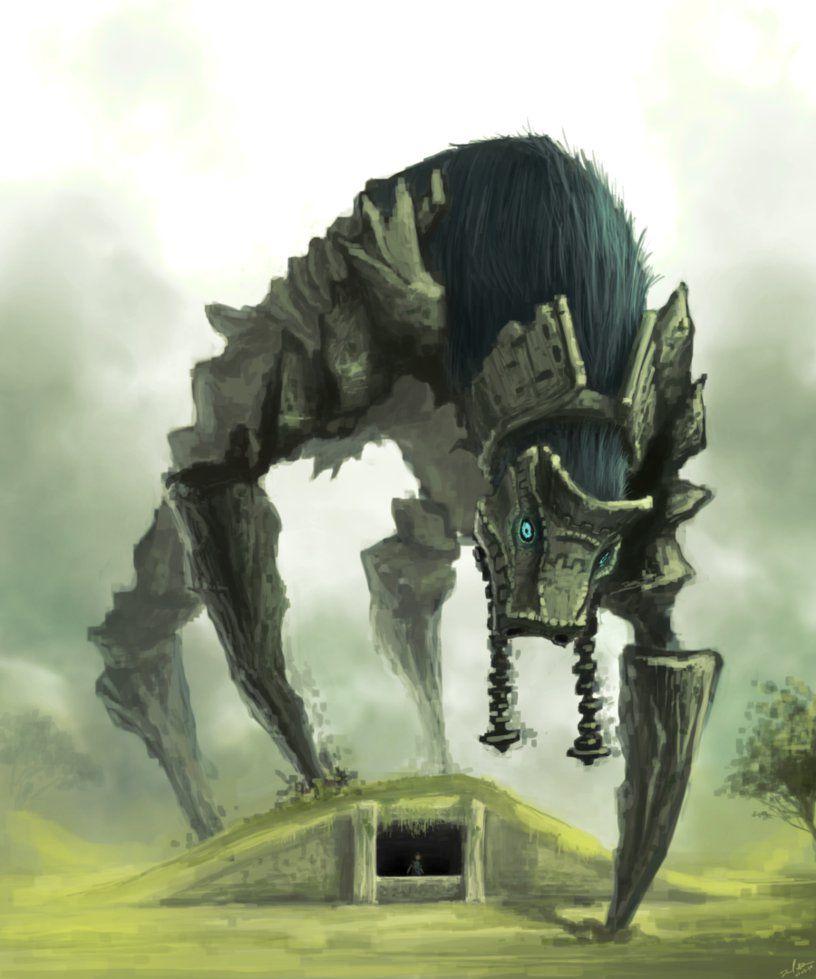 Colossus 4 Phaedra By Daniel Aubert Shadow Of The Colossus Colossus Shadow