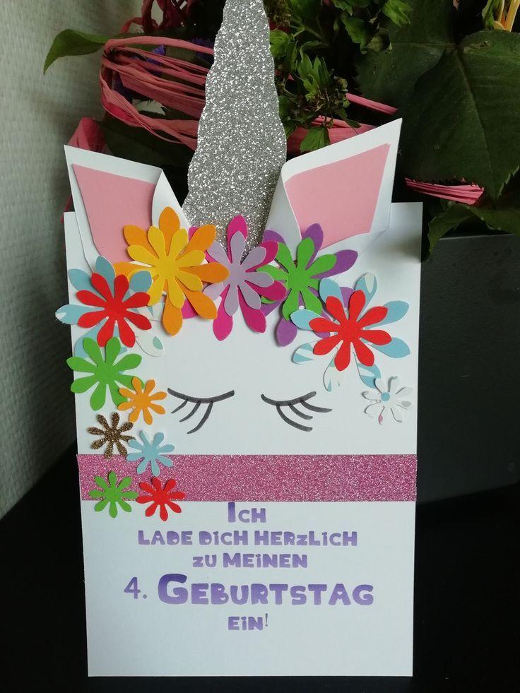 einladungskarten - einhorn einladungskarte din a 6 kinder