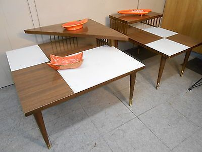 1950s Two Tiered Modern Corner Table By Mersman Mid Century Very Nice