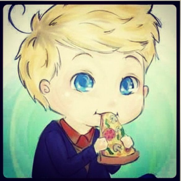 Niall horan cartoon pic eating pizza hño<sdboñvgushfoughsfovusbfcouv