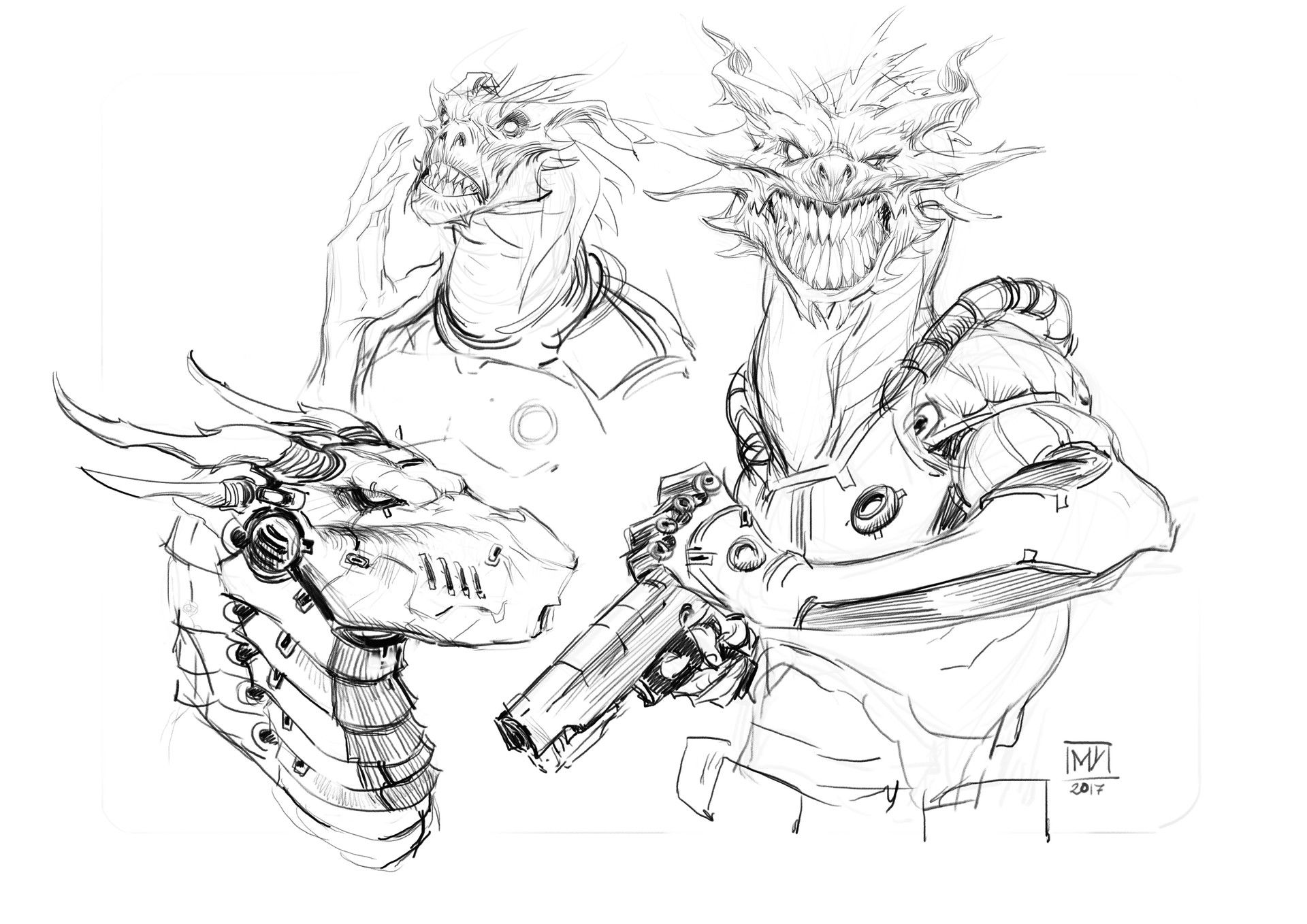 Just having some fun sketching some silly stuff :P