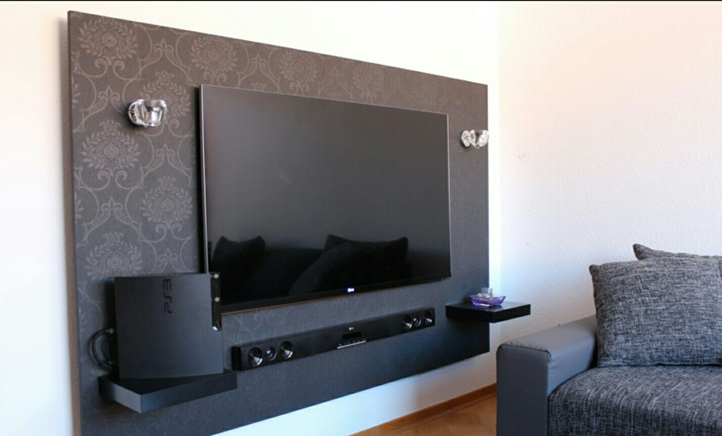 pin von katja soller auf tv wand ideen pinterest wohnzimmer wand ideen und tv wand ideen. Black Bedroom Furniture Sets. Home Design Ideas