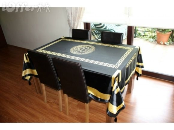 Black And Gold Tablecloth Cheap Black Gold White Wedding