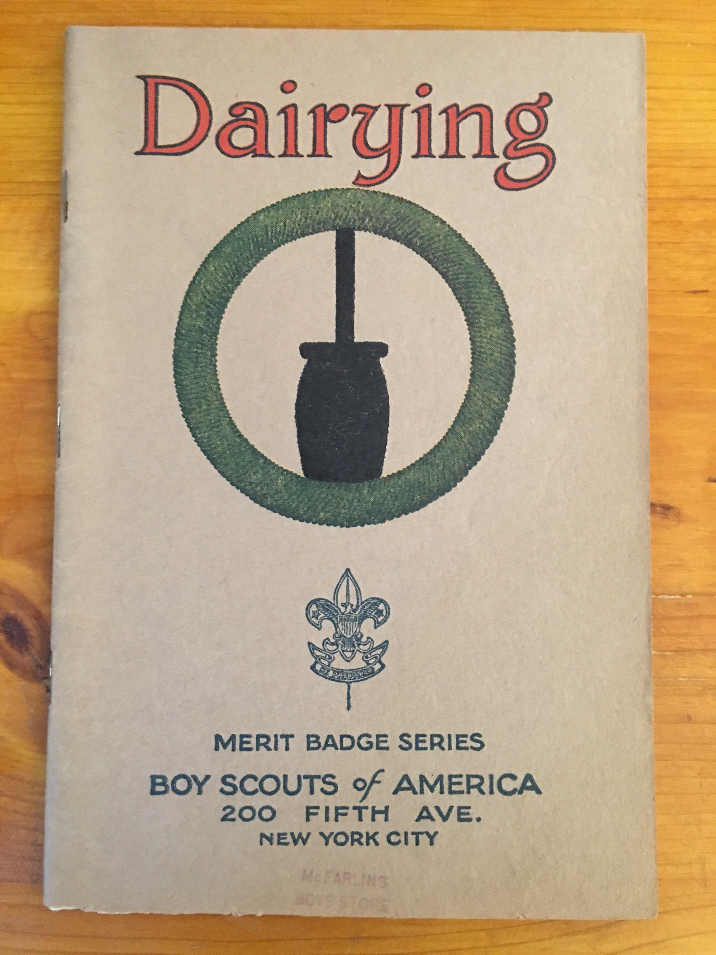 Dairying Merit Badge Book