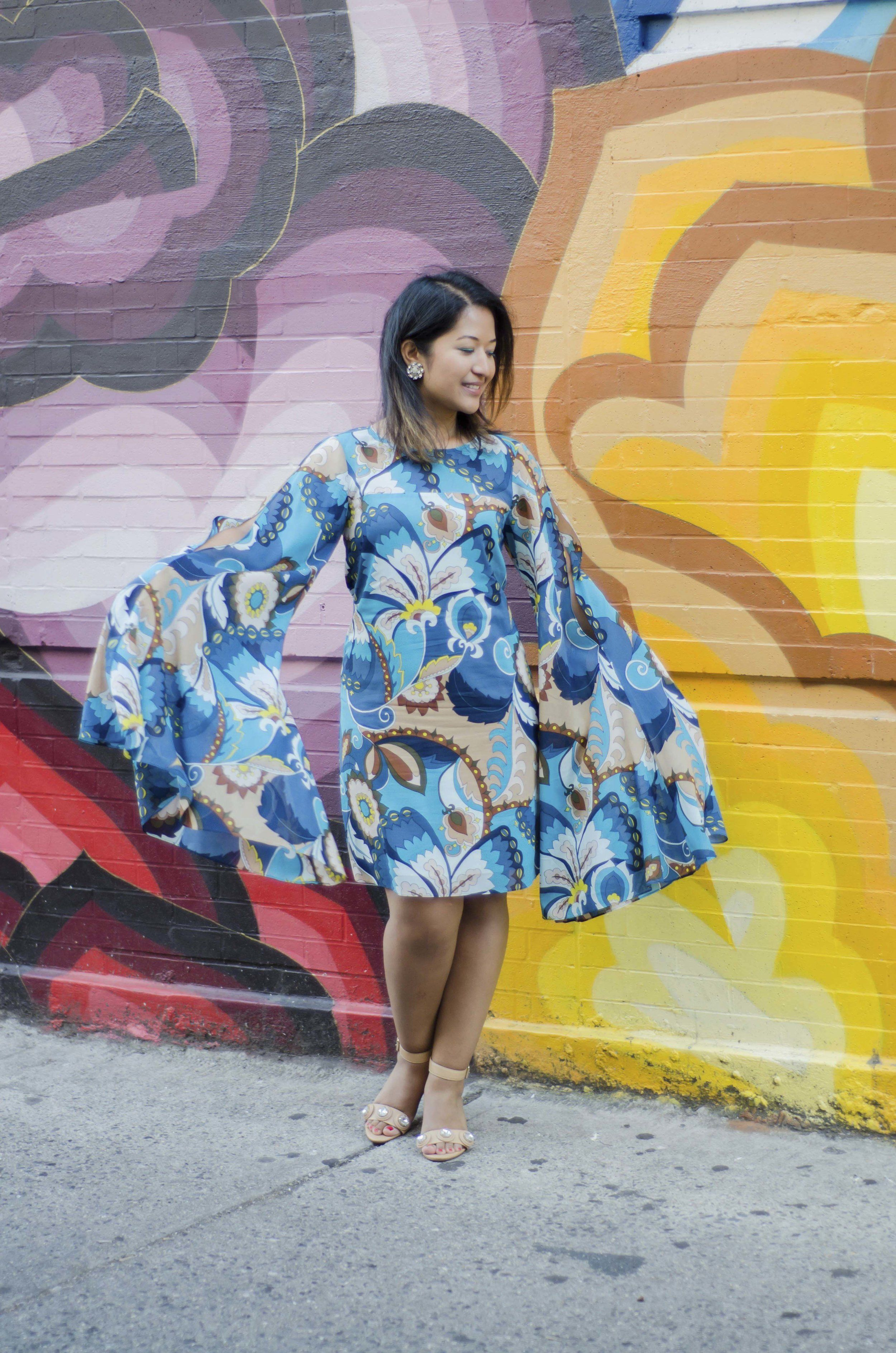 Prints & Sleeves Trina Turk Printed Dress. Spring Style