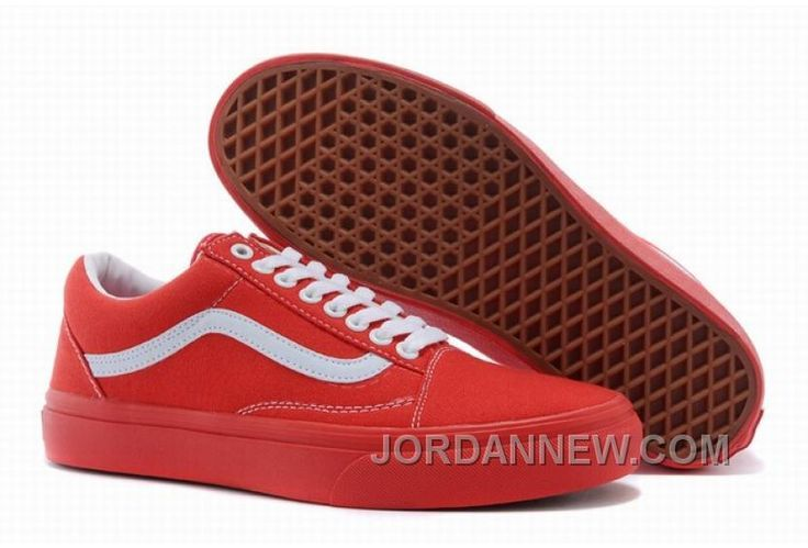 vans old skool all red