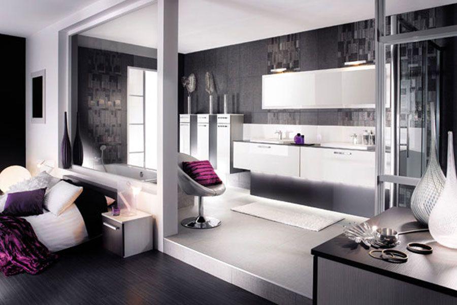 Inspiration des salles de bains blanches recherche ambiance pour s l pinterest schlafzimmer - Meuble de salle de bain mobalpa ...