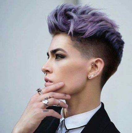 64 Trendy Hairstyles Short Edgy Shaved Sides #tomboyhairstyles